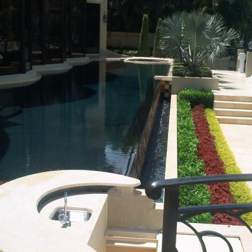 Infinity Pool With Plants
