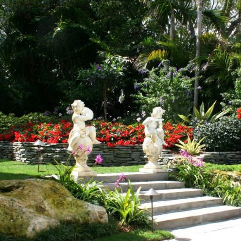 Garden With Statues