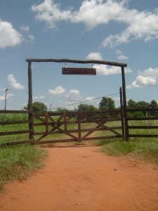 One of the gates to a farm in Santo Domingo, Paraguay.
