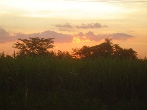 Sunset on my walk home in Santo Domingo, Paraguay!