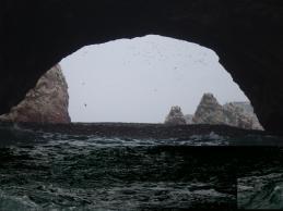 One of the many arches throughout the rock formations of the Ballestas Islands.