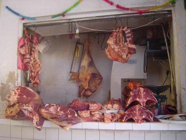 The meat market of Copacabana.