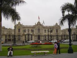 The Government Palace of Peru or the Palacio de Gobierno in Plaza Mayor houses the executive branch of the Peruvian Government and is also the official residence of the President of Peru.