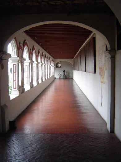 The courtyard of the monastery of San Francisco in Lima, Peru.