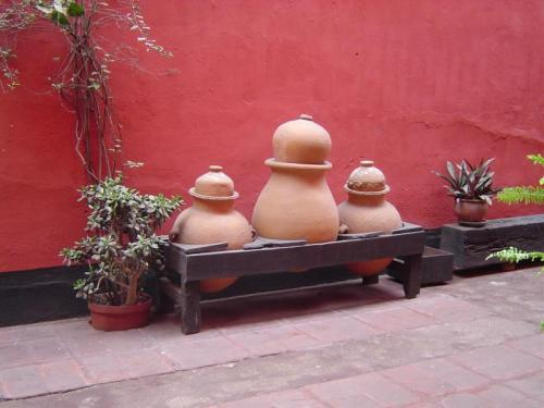 Some ceramic pots from within the Monastery of San Francisco in Lima, Peru.