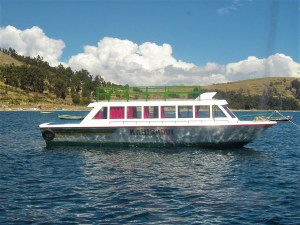 One of the water taxis that takes you from Copacabana to Isla del Sol.