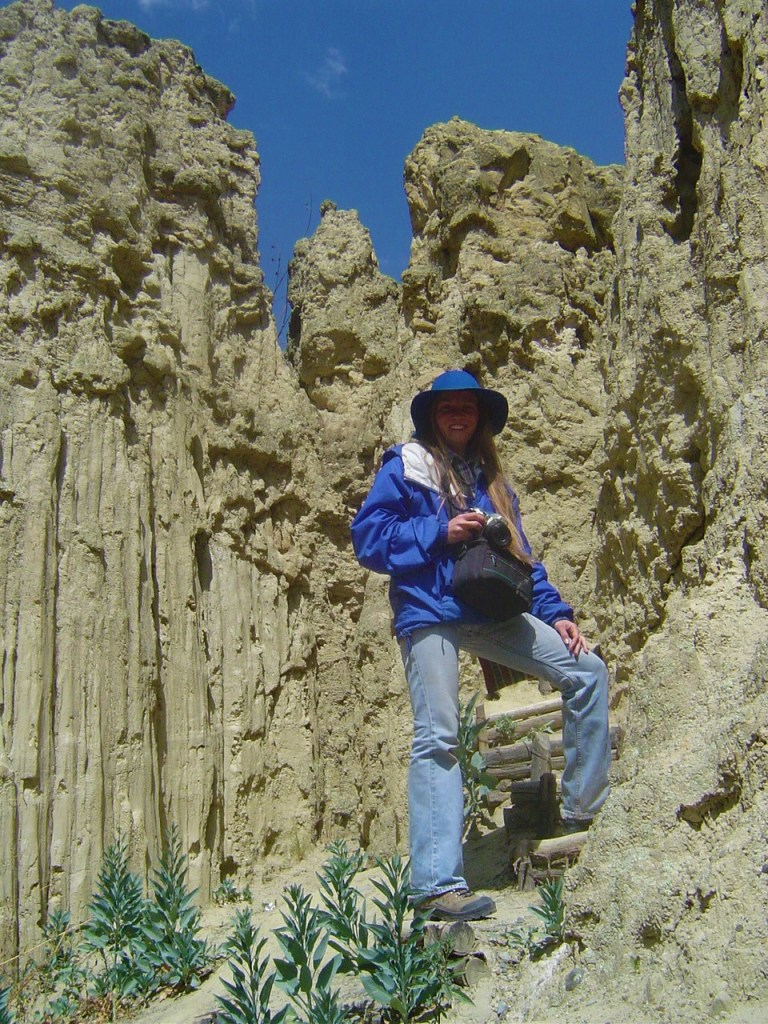 The natural rock formations of Valle de la Luna.