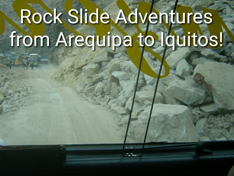 Seeing the rock slide for the first time after waiting 48 hours for the rocks to be removed!