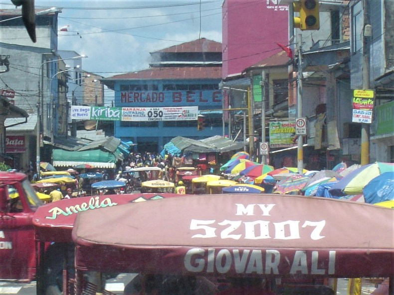 The busy Mercado de Belen full of activity.