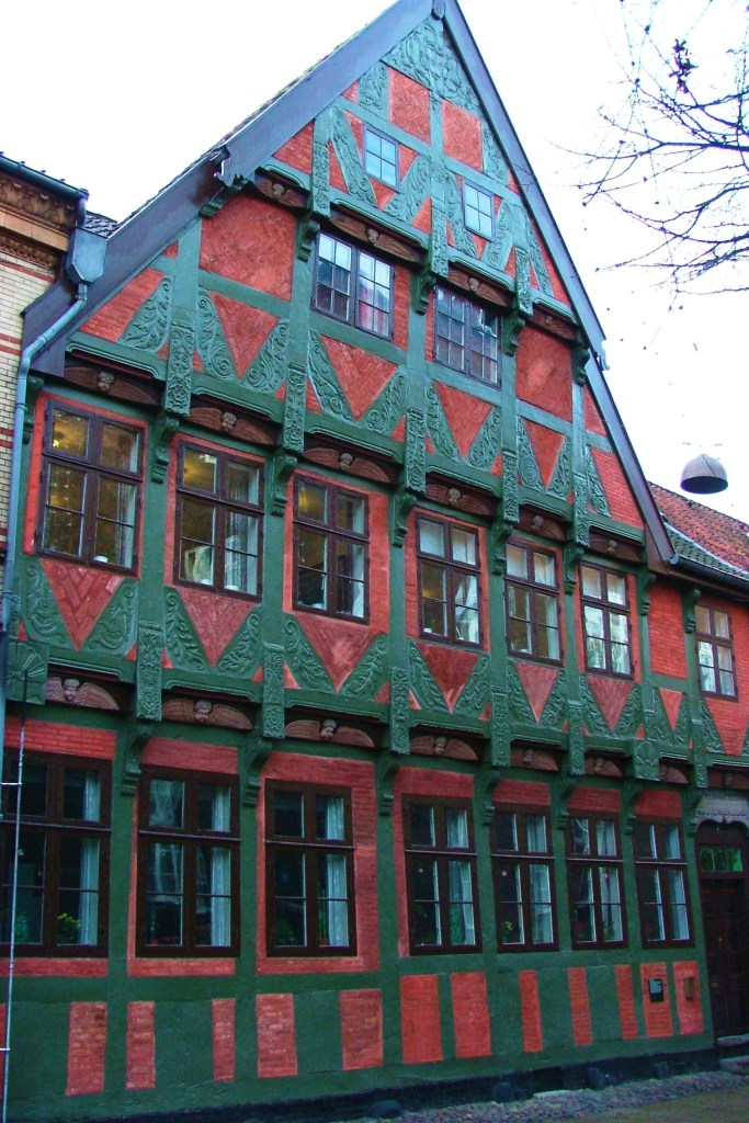 One of the older beautiful homes located in the Helligkorsgade area of Kolding, Denmark.