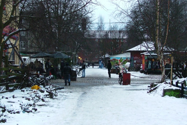 Freetown Christiania is a self proclaimed autonomous district located within the capital city of Copenhagen. This is Pusher Street.