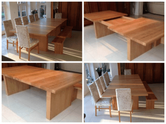 Modern style English Character Oak Drawer Leaf Table, seats 14 extended