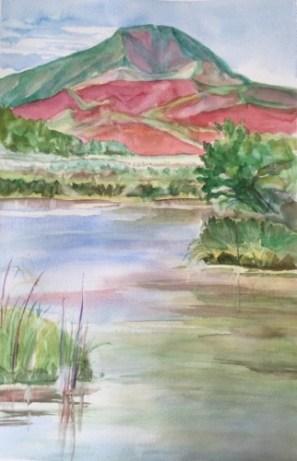 Silver Creek Preserve, transparent watercolor, plein air
