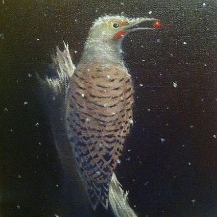 """Northern Flicker"" oil on canvas"
