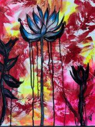 Tears of the Lotus, acrylic on canvas