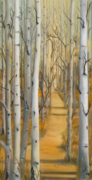 Aspen Path - Oil on Linen