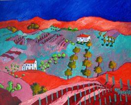 Orange Hills Oil:Canvas acrylic 24x30