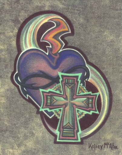 """Saint Paddy's Spirit"", Mixed Media on Paper, 8"" x 10"""