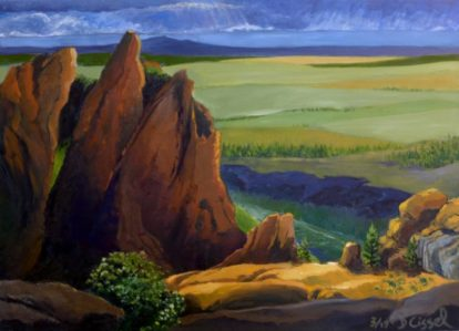 """Smith Rocks North Side. 24""""x34"""", Oil on canvas"""