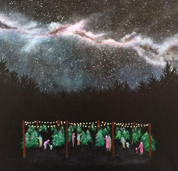 """""""The Family Tree"""", Acrylic"""