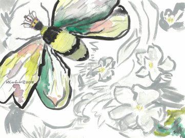 gardiner mary_queenbee_watercolor_9x12