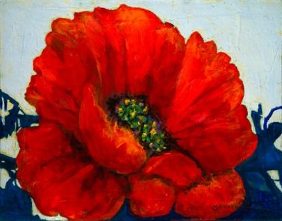 """Poppy in Razzle-Dazzle"", Oil 11x14"