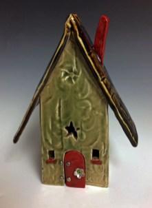 """""""Fairy House 3"""", hand-built clay cone 5, 10"""" tall"""