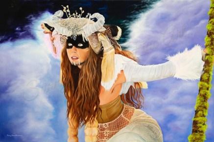 "Nordic Goddess, oil on canvas, 24""x36"""