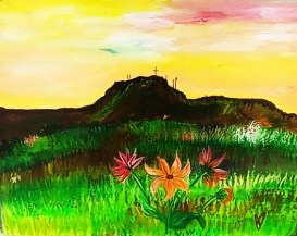 """Flowers among the sagebrush"""
