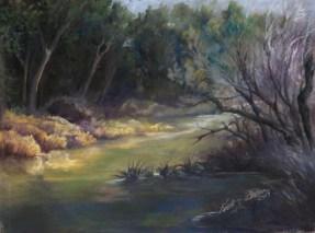 """""""Misty River"""", Pastel, 13"""" X 10.5"""""""