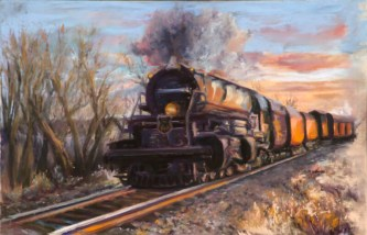 """Train"", Pastel, 11"" X 7.75"""