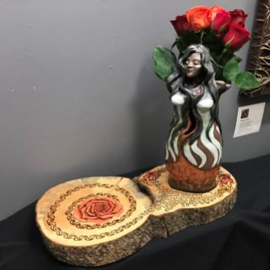 Mary Magdalene, mixed media sculpture