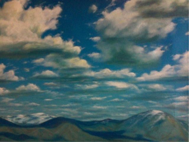 """Spring Hills, Acrylic, 18x22"""