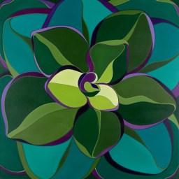 """Starburst"" 48x48 oil on canvas"