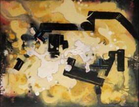 """""""Opus A"""", acrylic, ink on canvas, 20"""" x 16"""""""