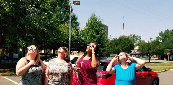 The SERO business office staff enjoyed the eclipse viewing.