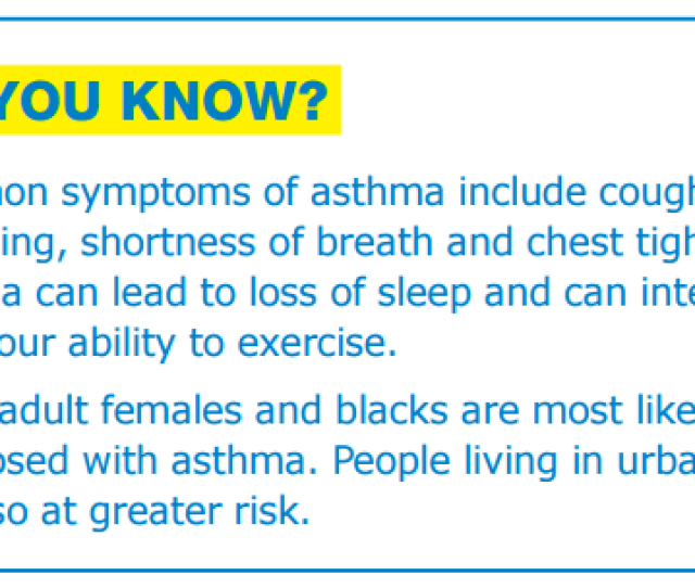 Did You Know Asthma
