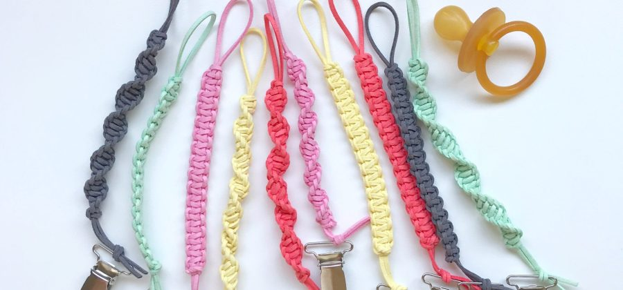 Macrame Braided Pacifier Clip Range