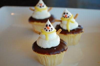 Snowmen cupcake