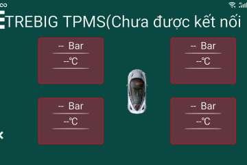 Phần mềm cảm biến áp suất, nhiệt độ lốp Tiếng Việt TREBIG TPMS 5