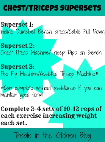 Chest Triceps Supersets