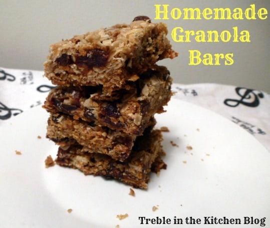 granola bars text