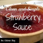 Clean and Simple Strawberry Sauce