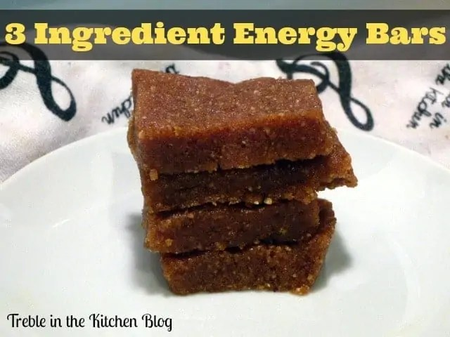 3 ingredient energy bars text