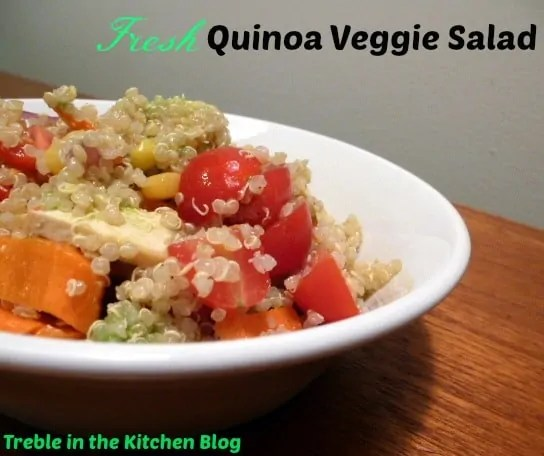 Quinoa Veggie Salad Text
