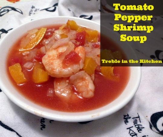 Tomato Pepper Shrimp Soup
