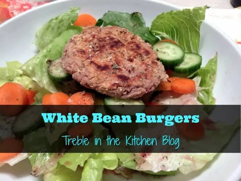 white bean burgers via treble in the kitchen