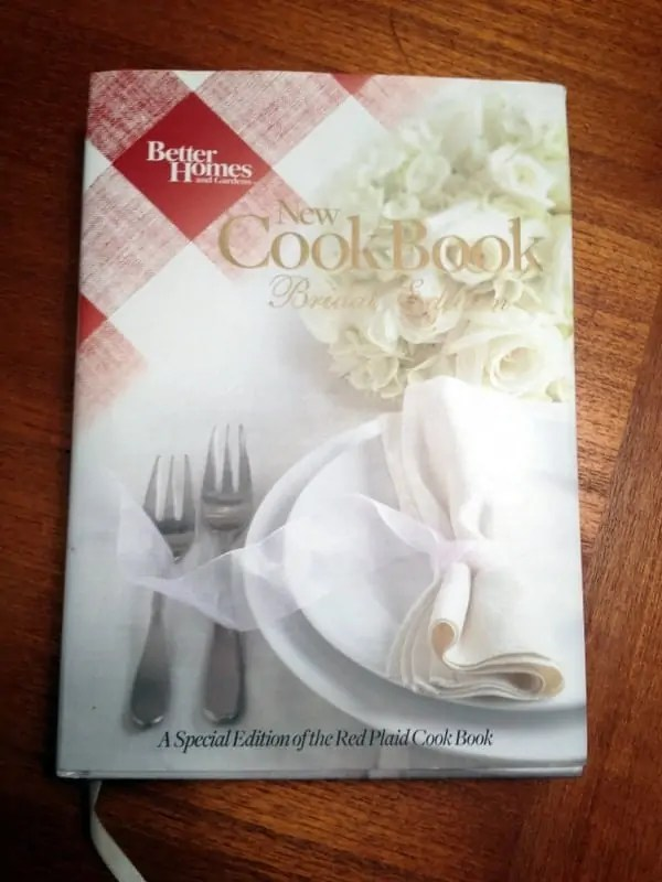 bridal edition cookbook