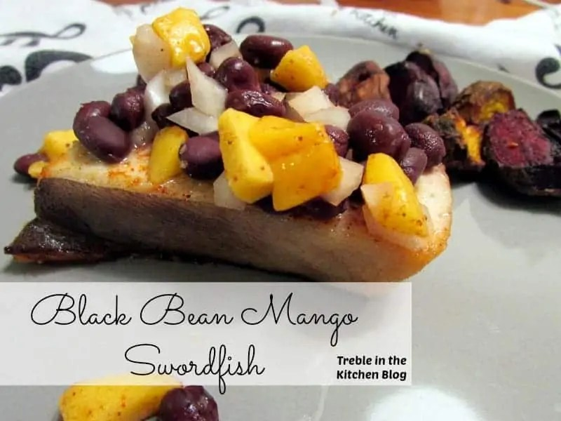 black bean mango swordfish text