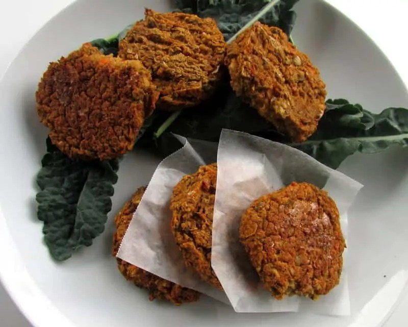 Chickpea Lentil Veggie Burger via Treble in the Kitchen